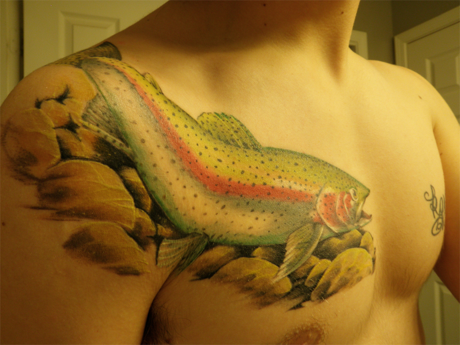 Salmon tattoo